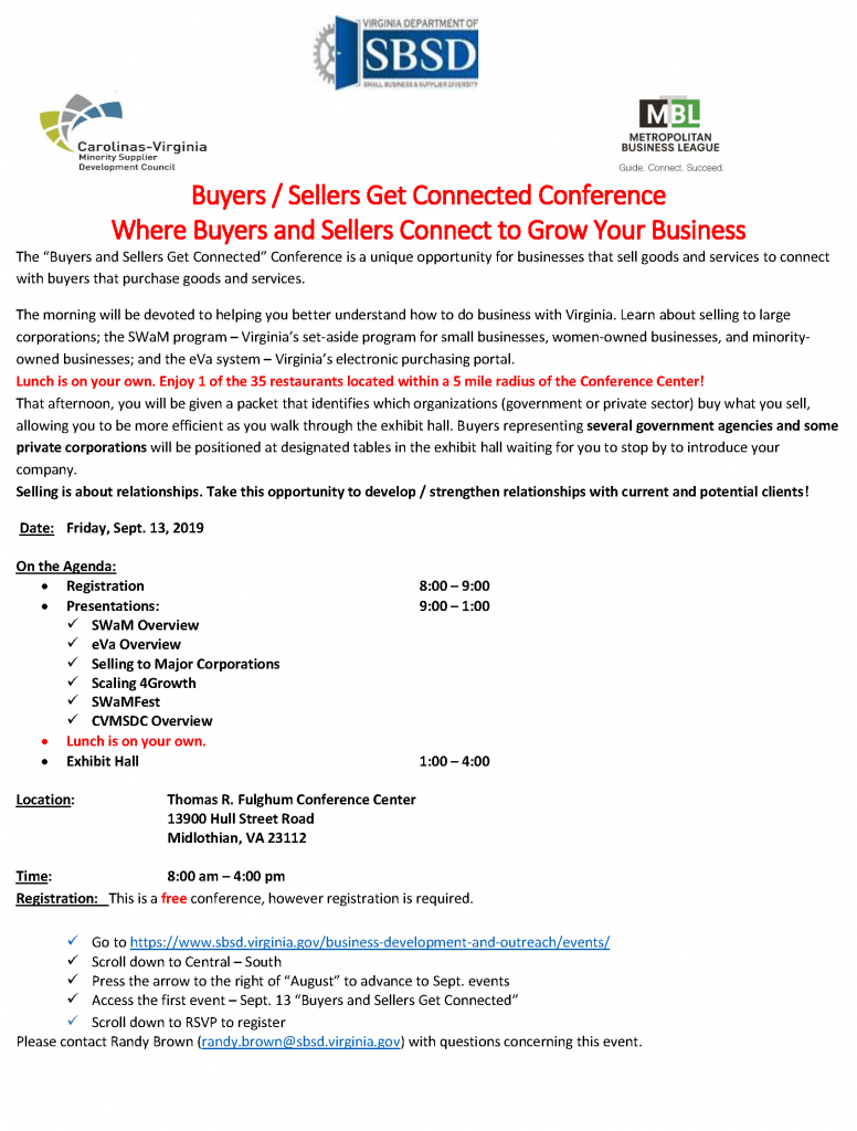 Events – Virginia Department of Small Business and Supplier